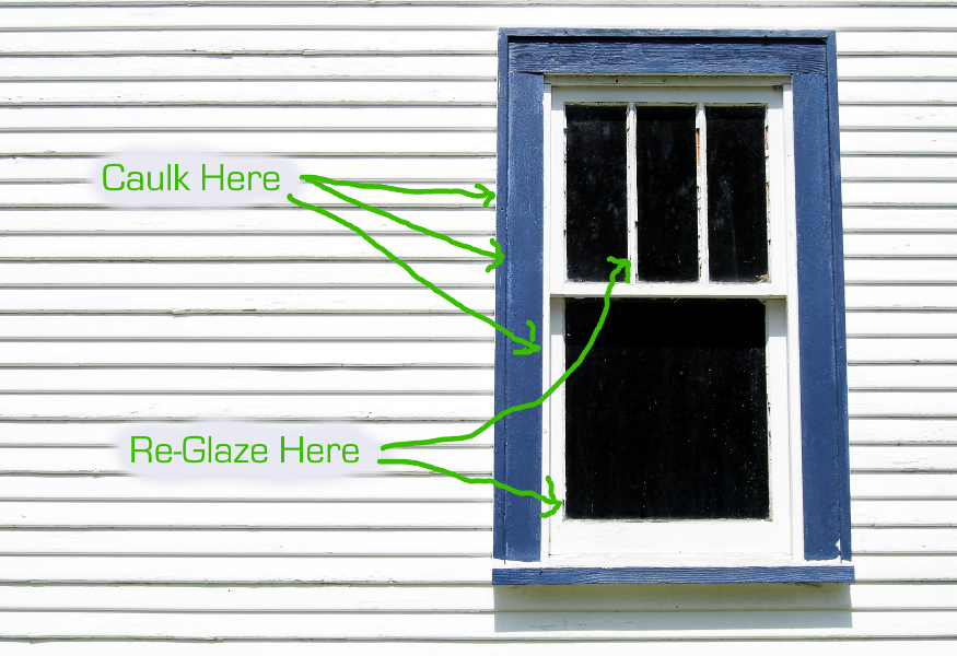 How to caulk windows and where to caulk windows for Window caulking
